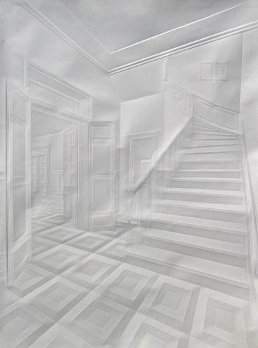 Amazing Paper Folding Drawing Work by Simon Schebert