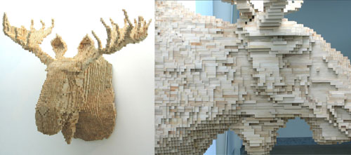 Amazing Pixelated Sculptures