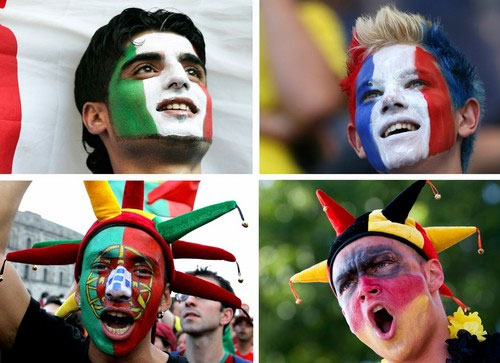 Hy Soccer Fan Beautifully Face Painting
