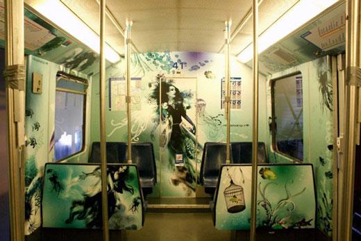 Incredible Metro Train Painting