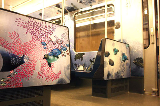 Incredible Metro Train Painting