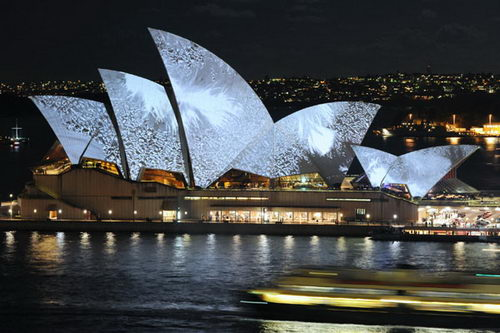 Lighting the Sails - Vivid Sydney