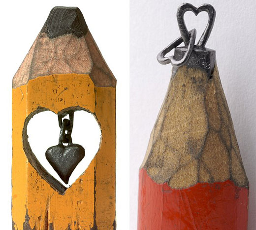 Incredible Miniscule Pencil Tip Carvings by Dalton Ghetti