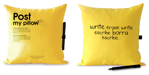 POST MY PILLOW - Write, erase, write.
