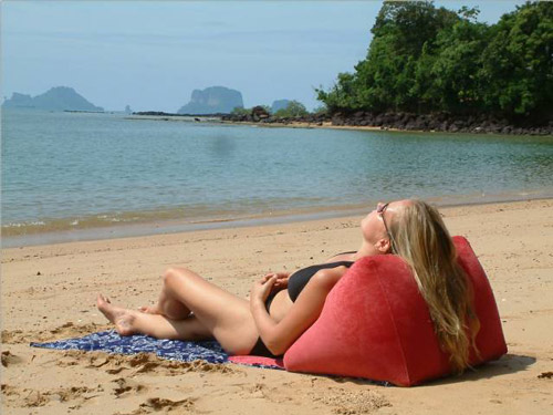 WondaWedge Inflatable Outdoor Beach Back Pillow