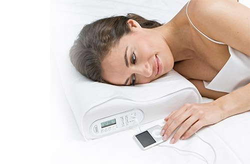 Memory Foam Music Pillow with Vibrating Alarm