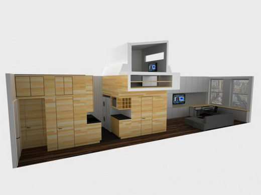 Economic Small Apartment with full functionality