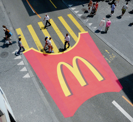 20 Creative and Smart McDonald's Advertisement Designs over World