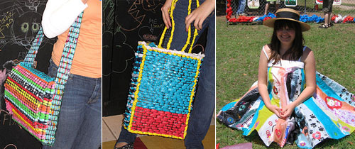 Plastic Bag Hand Bags And Accessories