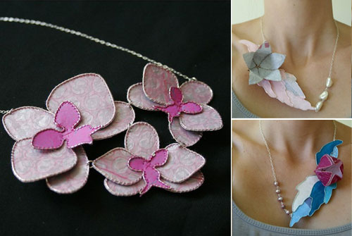 Fused Plastic Jewelry from Recycled Plastic Bags