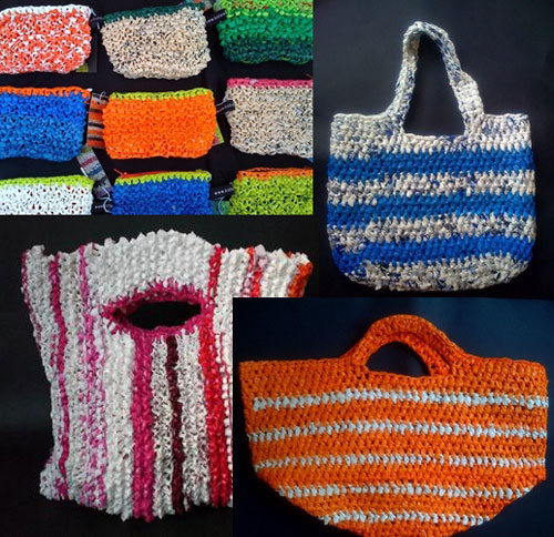 Kate Has Chosen To Celebrate The Plastic Bag By Lovingly Hand Knitting And Stitching Discarded Bags Creating Contemporary Art Works As Well