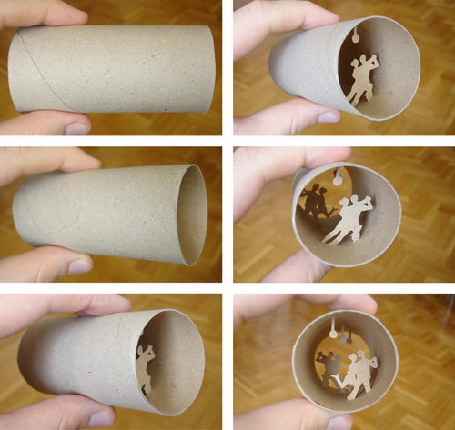 Amazing Paper Cut: World in a Toilet Paper Roll