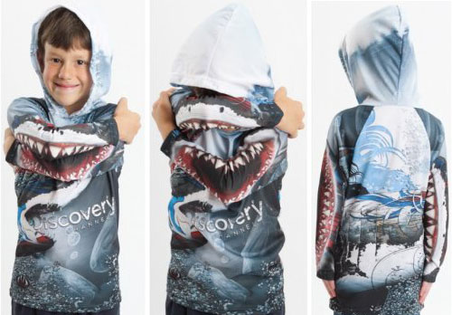 shark bite tattoo. Monster Hoodies: Shark Bite