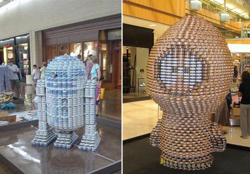 19 Geek Inspired Can Sculptures