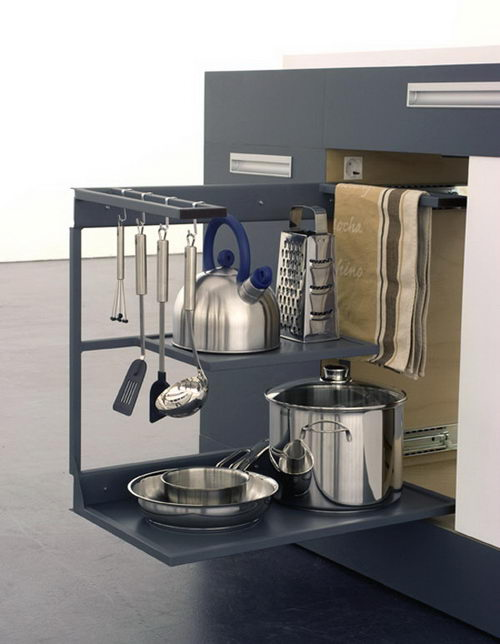 Innovative Compact Kitchen Design for Small Apartment
