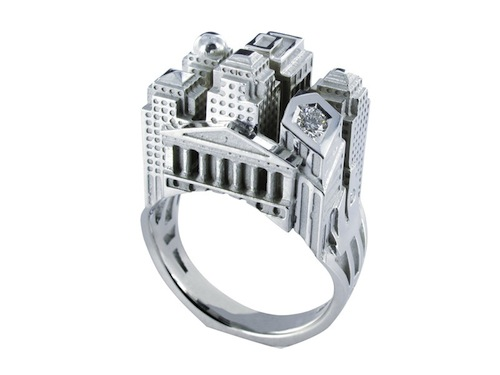 Incredible Detailed Architecture on a Ring New York