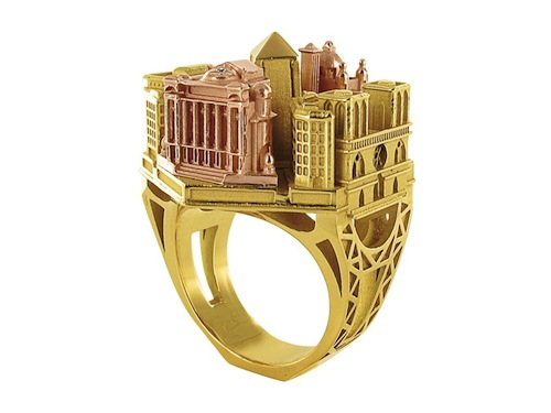 Incredible Detailed Architecture on a Ring Paris