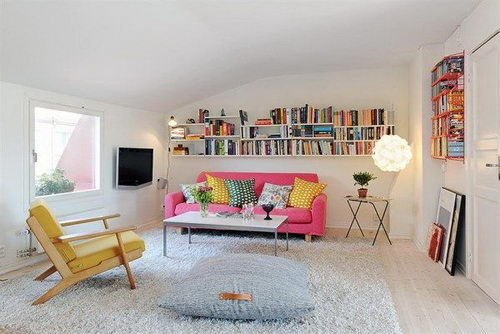Rooftop Apartment Design: Great Arrangement and Cheerful Color