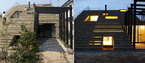Creative Stairs House From Japan Design Swan