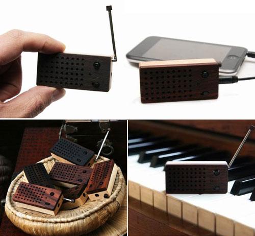 Tiny Wooden Emotion Speaker (Bulid-in FM Radio)
