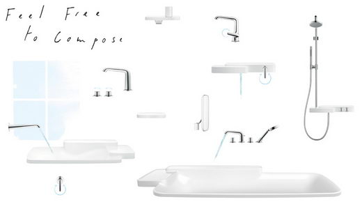 Flexible Bathroom Design: Axor Bouroullec