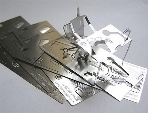 Cool 3D Metal Fold-out Business Card Design