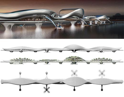 Multifunctional Futuristic Bridges from Korea