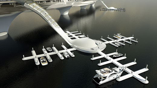 Multifunctional Futuristic Bridges from Korea