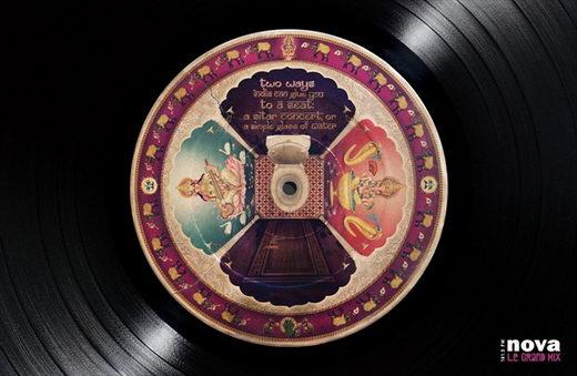 Creative Painting on LP Record - NOVA Radio campaign