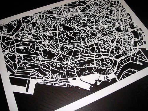 Incredible Paper Map Cut By Hand
