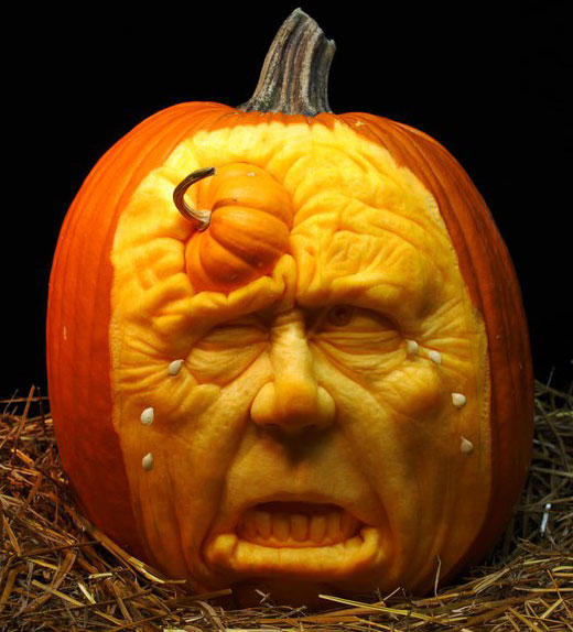 Most amazing pumpkin carvings from ray villafane design swan - Deco citrouille pour halloween ...