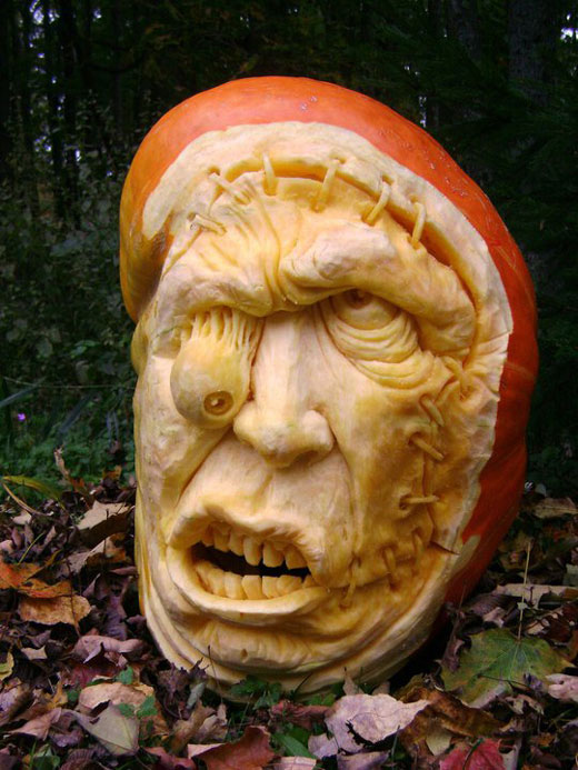 Most Amazing Pumpkin Carvings From Ray Villafane Design Swan