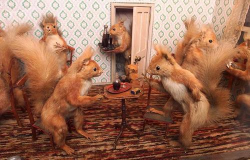 Bizarre Stuffed Animals Mimic Human Life