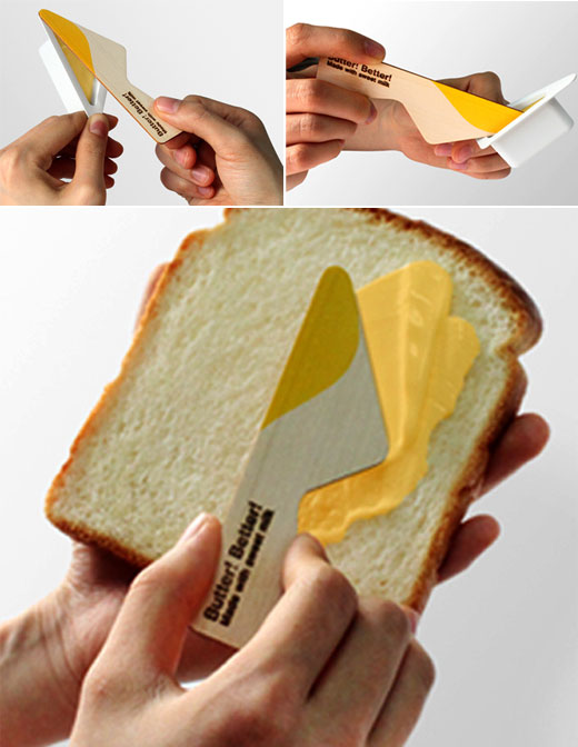 Creative Four Flavored Single-serve Butter Package