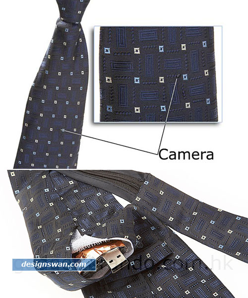 Wired Spy Necktie Camera