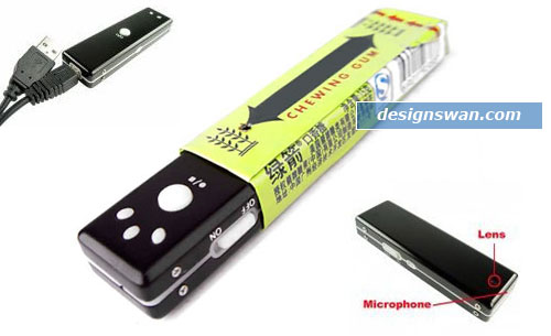 Superior Chewing Gum Camera with Built In Flash + Mic -1GB