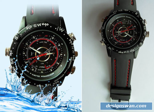 GSI Handsome Waterproof Watch, Hidden Pinhole Camera/Camcorder