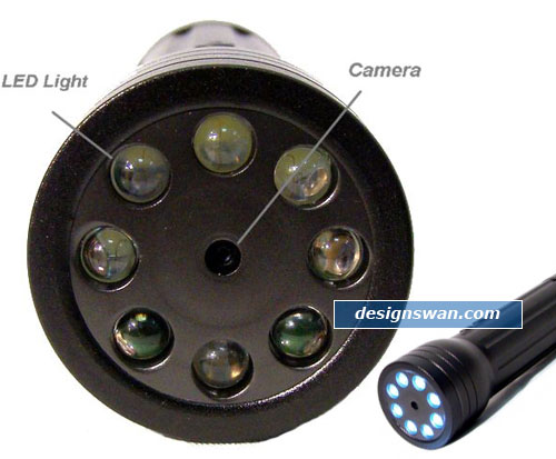 8-LED Flaslight Mini DVR Camera