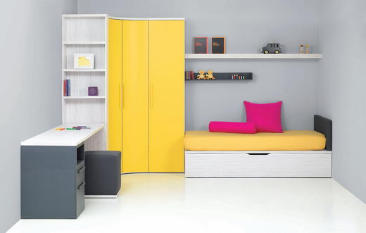 Fresh and Compact Kids Room Design