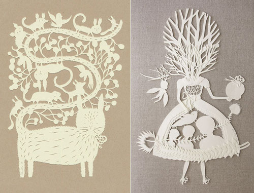 Awesome Paper Sculptures and Paper cuts from Elsa Mora
