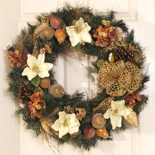 20 beautiful christmas wreath decorating ideas design swan Christmas wreath decorations