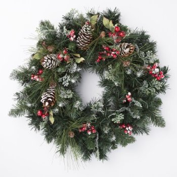 20 Beautiful Christmas Wreath Decorating Ideas – DesignSwan.