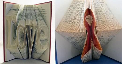 folded paper book reports