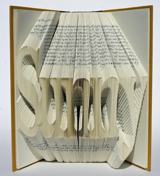 Creative Book Folding Art from Isaac Salazar