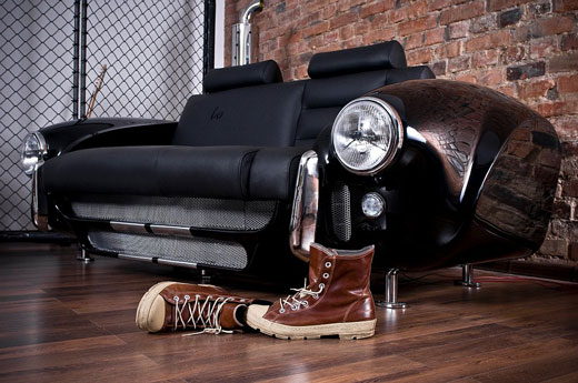 Innovative Living Room Design Inspired by Car