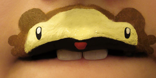 Creative and Interesting Lip Painting: Animal-ipstick