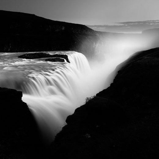 Truly Stunning Black and White Photography of Dramatic Water in Iceland