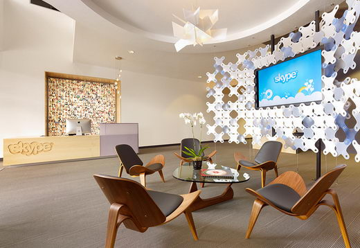Modern and Innovative Interior Design of Skype's Palo Alto Office