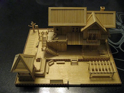 Amazing Architecture Made of Toothpicks