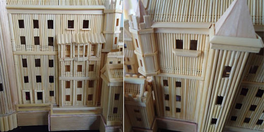Amazing Architecture Made Of Toothpicks Design Swan